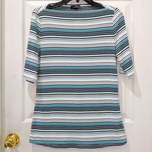 The Limited Boatneck Half Sleeve Striped Top